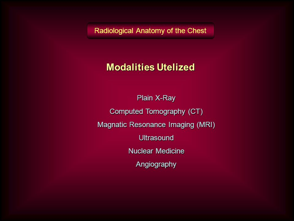 RADIOLOGICAL ANATOMY OF THE CHEST - ppt video online download