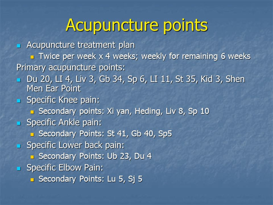Acupuncture for Hemophilia Patients in Chronic Pain - ppt