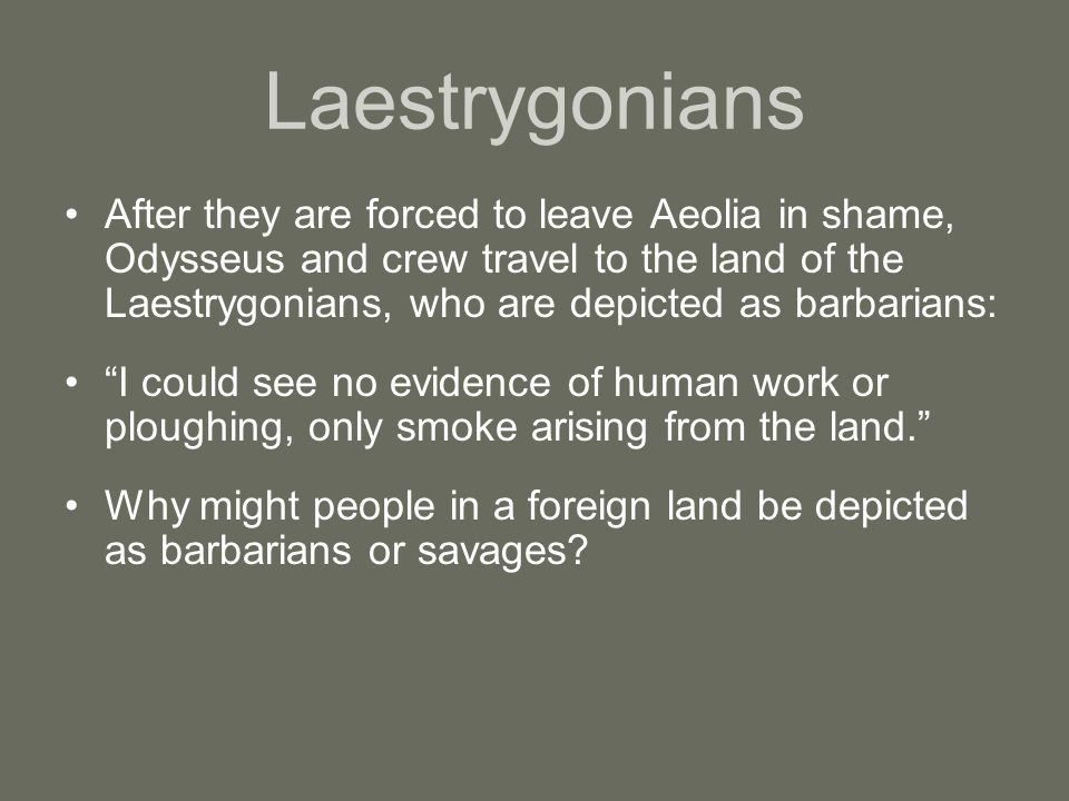 Odysseus And The Laestrygonians