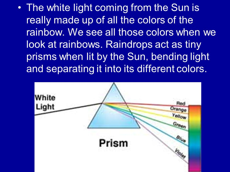 The White Light Coming From Sun Is Really Made Up Of All Colors