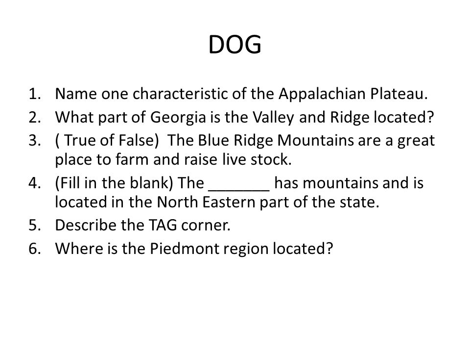 DOG Geography is the study of what? Define Relative Location  Define  Absolute Location  (True or False) The equator separates the northern  hemisphere from