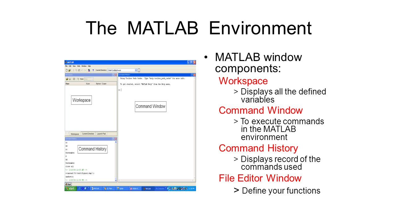 Outline Introduction to MATLAB Image Processing with MATLAB - ppt