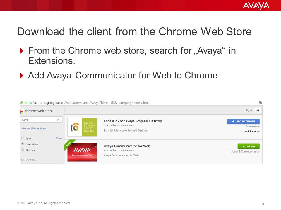 Avaya Communicator for Web Demo Installation - ppt video