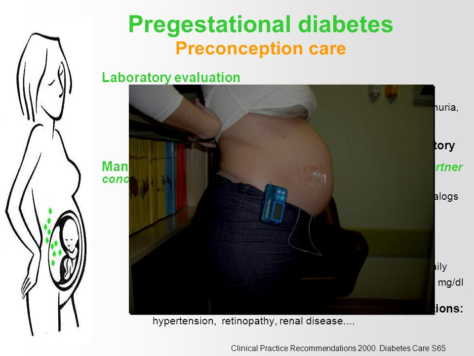 Associated Conditions and Diabetes PREGNANCY