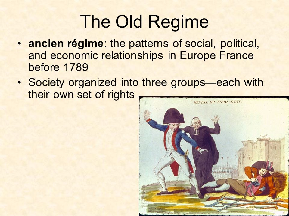 the old regime ancien rgime the patterns of social political and economic relationships