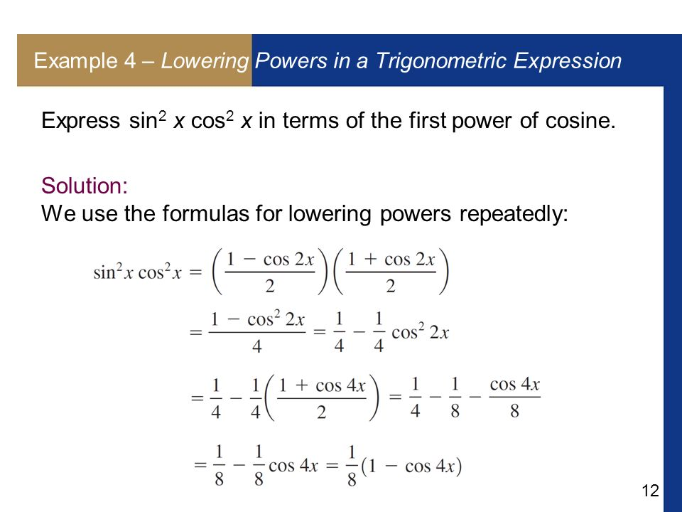 Sin2x Formula In Terms Of Cos