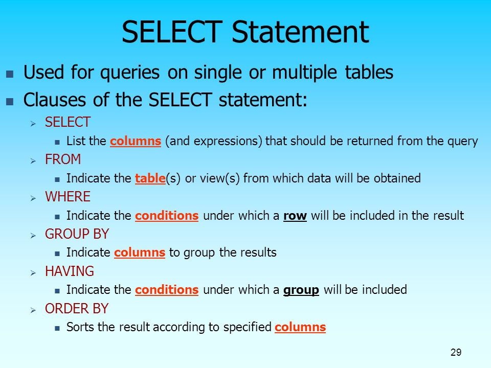 Sql Overview Structured Query Language Ppt Video Online Download