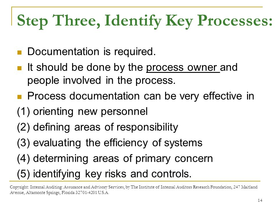 Business processes and risks ppt download step three identify key processes fandeluxe Image collections