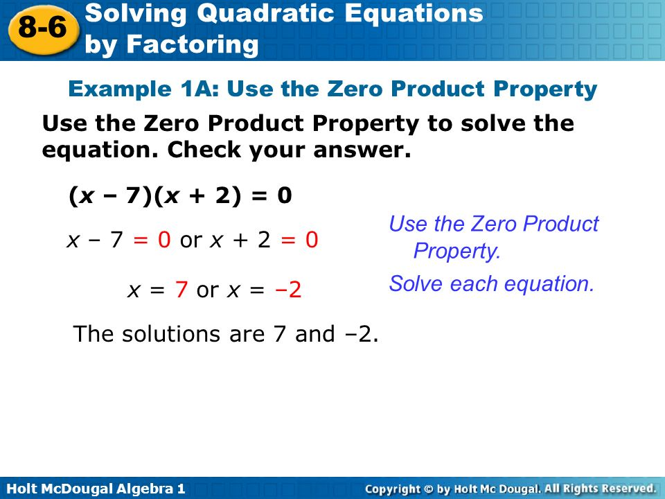 Zero Product Property Exles Collections Exle Cover. Zero Product Property Worksheet Fresh What Is A Quadratic Equation Objective Solve Equations By Factoring Ppt Video. Worksheet. Solving Quadratics Using Zero Product Property Worksheet At Clickcart.co