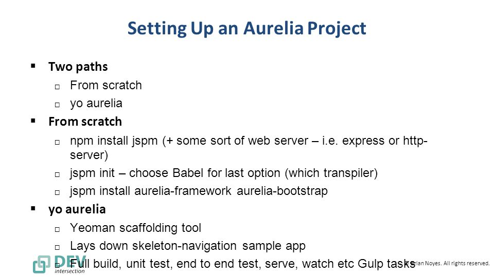 Getting Started with Aurelia - ppt video online download