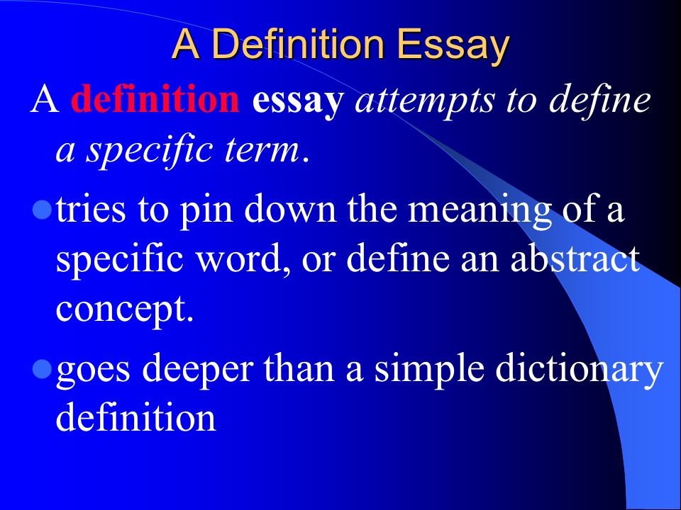 Thesis Statement Generator For Compare And Contrast Essay  A Definition  Persuasive Essay Thesis Examples also Thesis Statement Examples For Argumentative Essays Extended Definition Essay  Ppt Download Example Proposal Essay