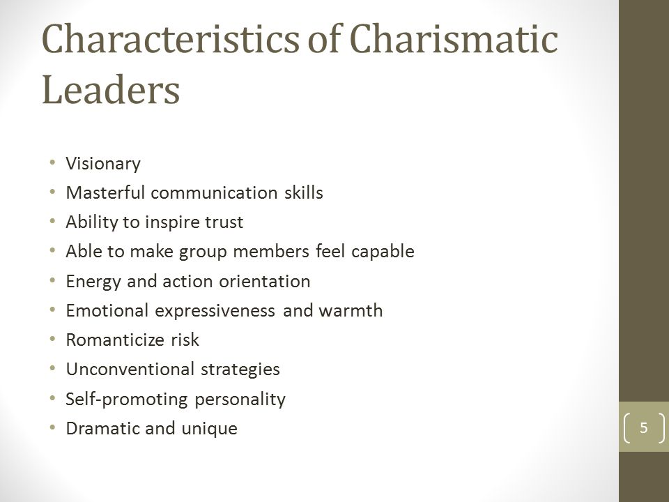charismatic and visionary leadership