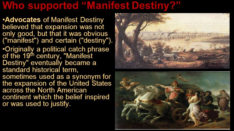 manifest destiny justification