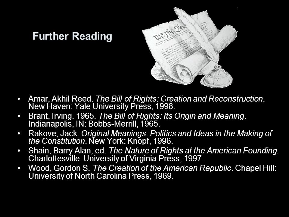 the bill of rights creation and reconstruction