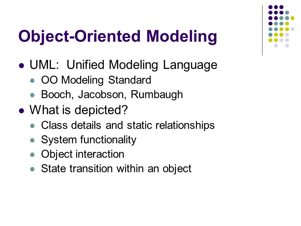 advantages and disadvantages of using unified modeling language as a standard for object oriented pr Advantages and disadvantages object oriented programming (oop) third structured programming the structured programming paradigm is a sub discipline of it discourages the use of global variables and instead encourages to use variables that are.