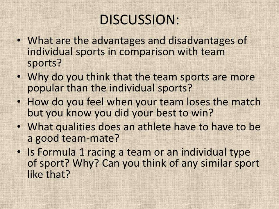 disadvantages of sports