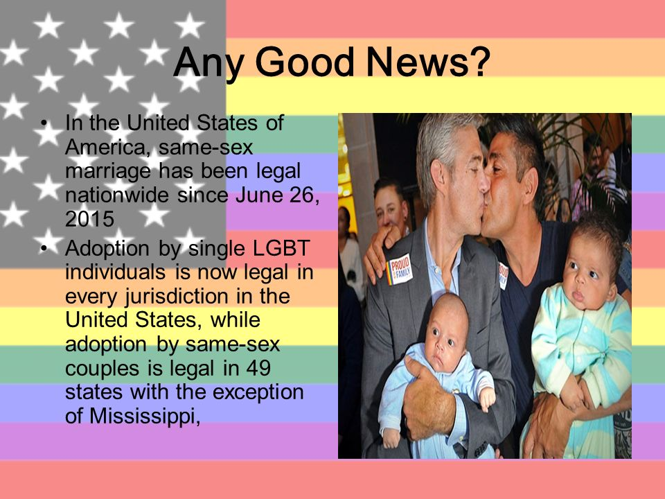 same sex adopotion Two persons of the same sex can adopt jointly if they live together as registered partners or as a married couple however, many countries of origin do not allow adoption under these circumstances, which may limit the prospective adoptive parents' options.