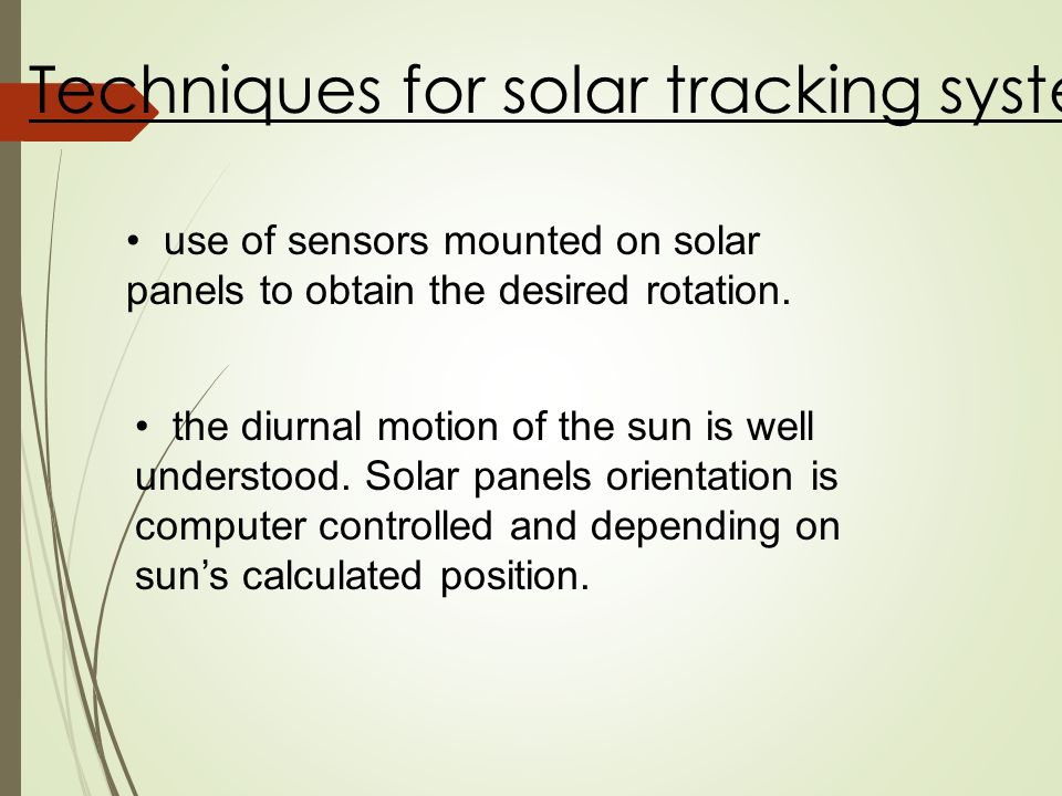 Solar tracker system  - ppt video online download