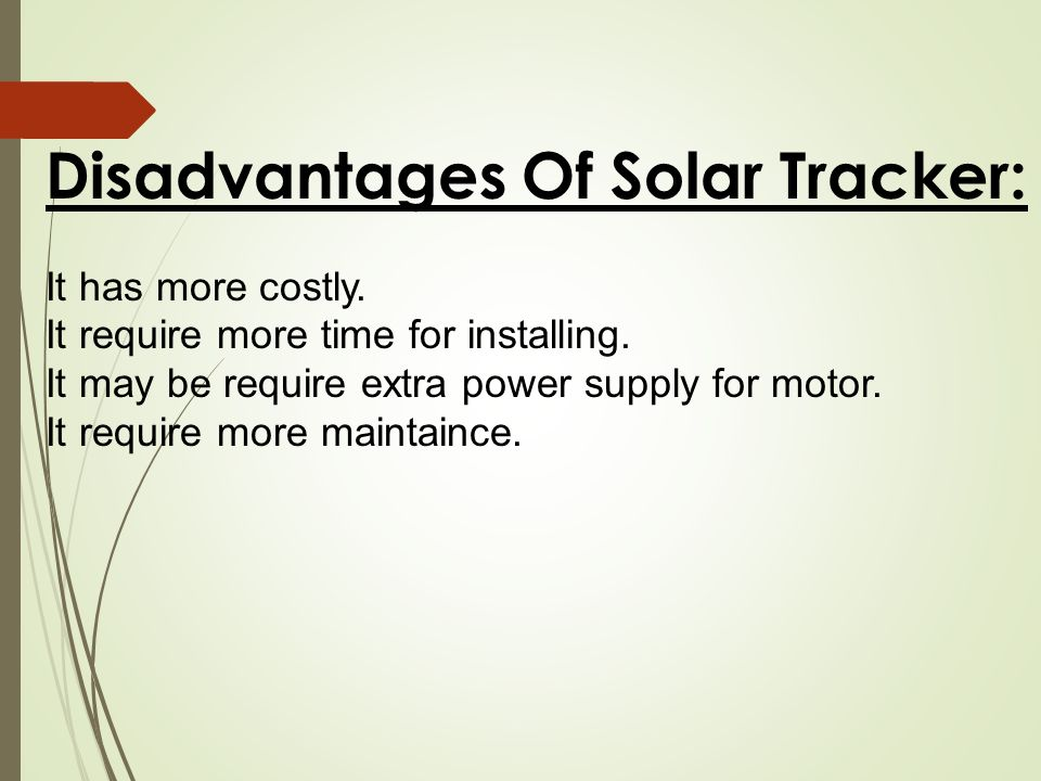 Solar tracker system  - ppt video online download