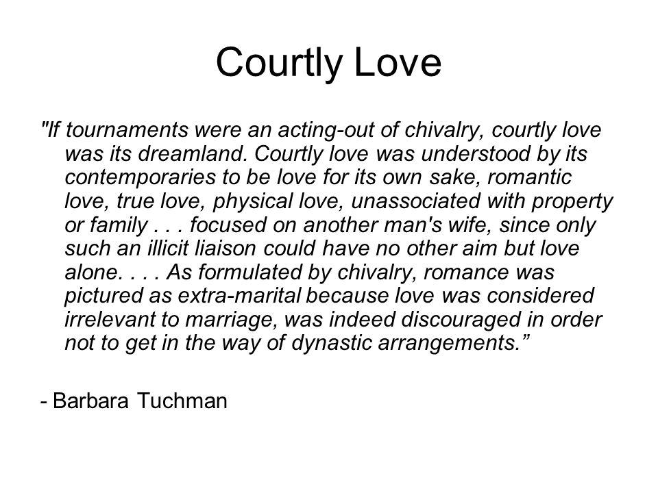 courtly love essay