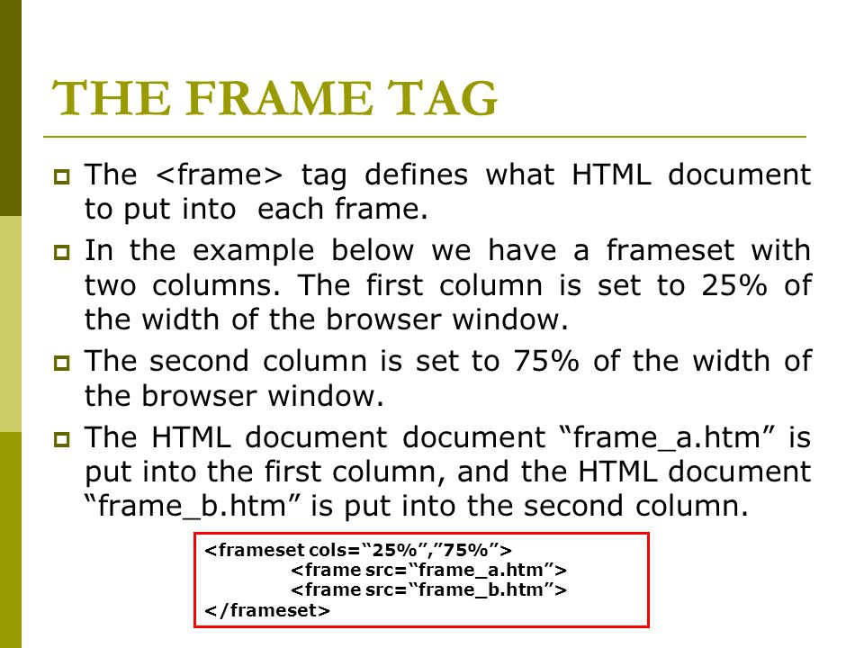 Html Frames With Frames You Can Display More Than One Web Page In