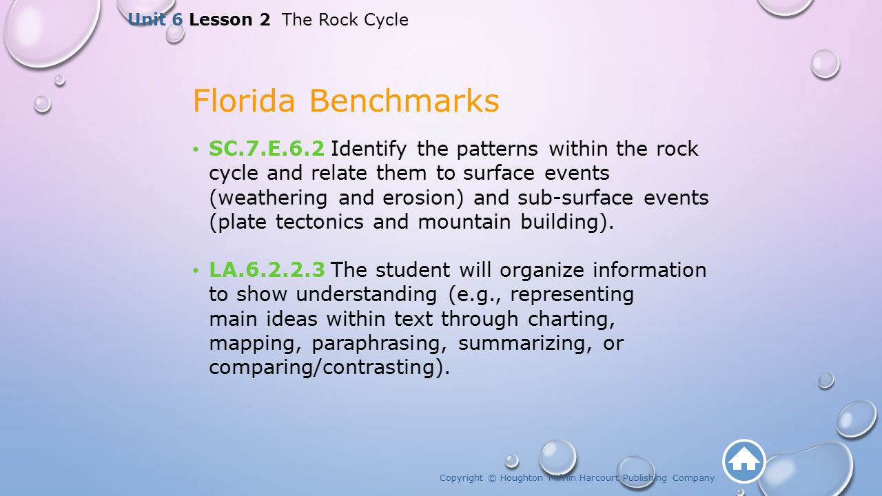 Unit  The Rock Cycle