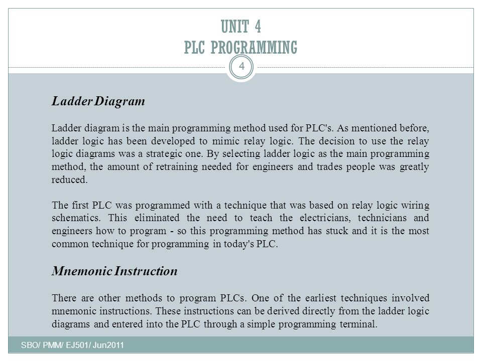 Programmable logic controller plc and automation ppt video unit 4 plc programming ladder diagram mnemonic instruction 4 ccuart Gallery