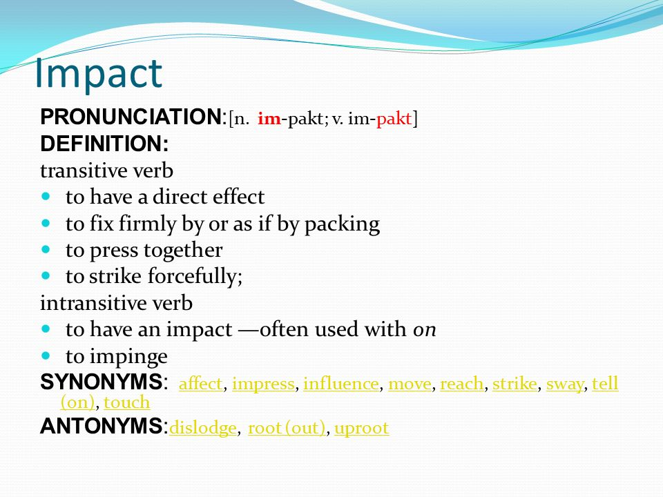 Academic Word List chapter, credit, impact - ppt download