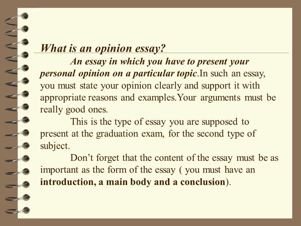writing an opinion essay