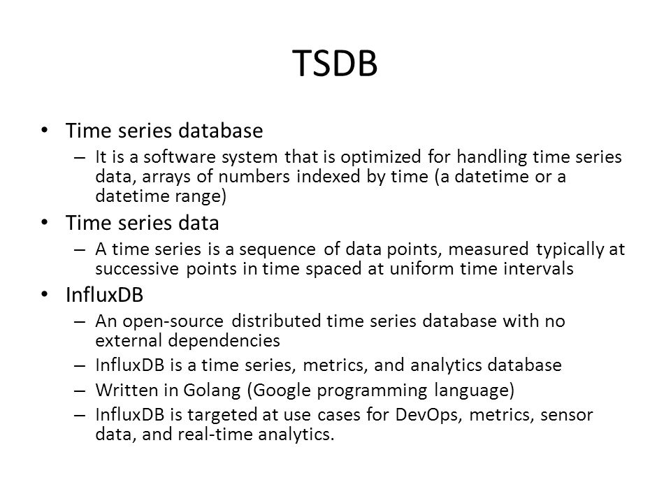 Distributed Time Series Database - ppt video online download