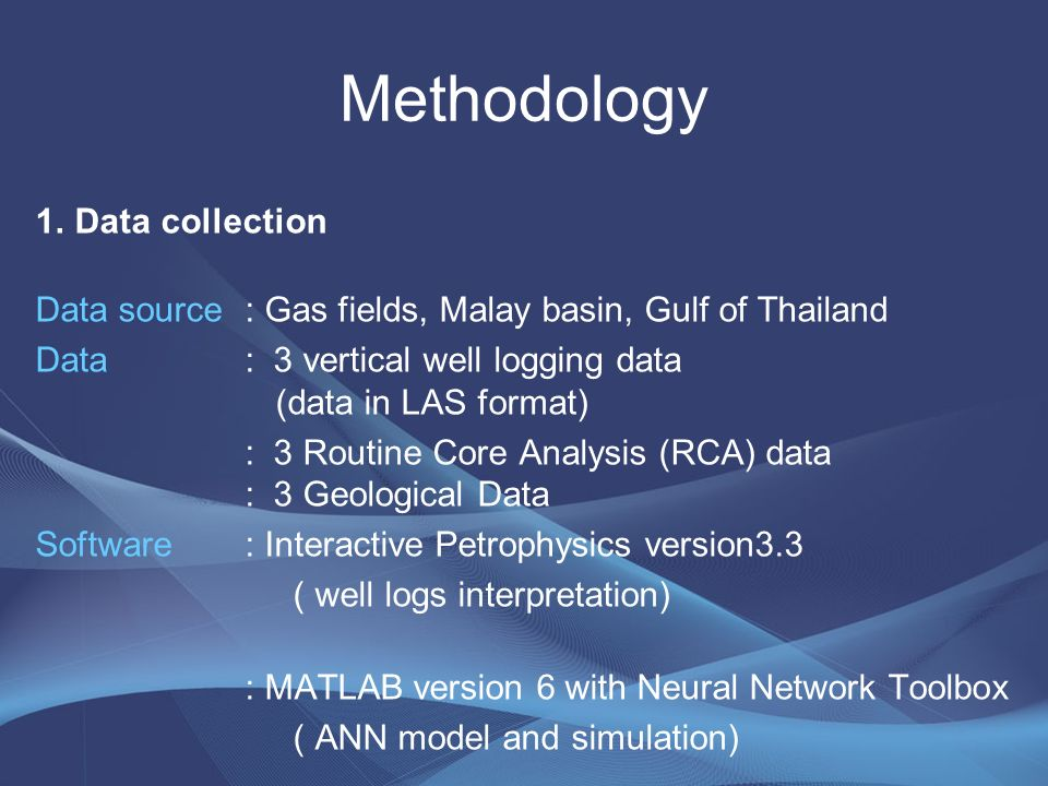 Thesis Topic An Integrated Petrophysical Study Using Well Logging Data for  Evaluation of a Gas Field in The Gulf of Thailand Committee member : Dr   Pham