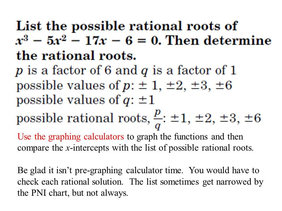 44 The Rational Root Theorem Ppt Video Online Download