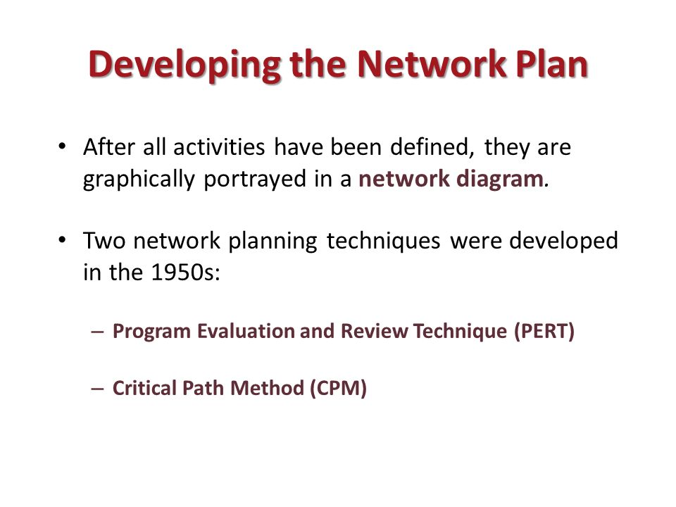 Tk3333 software management ppt download developing the network plan ccuart Image collections