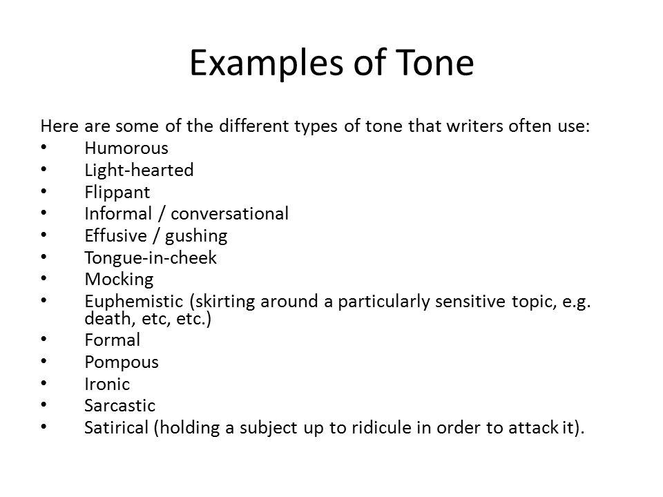 Types Of Tones In Essays   Mistyhamel