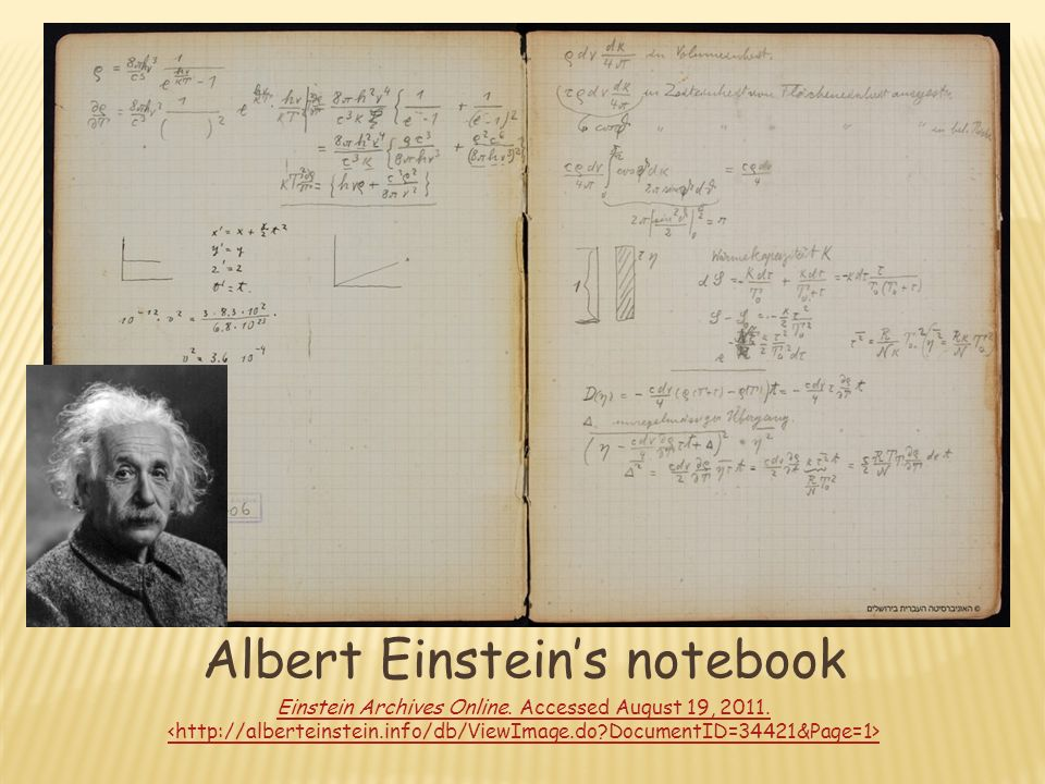 Famous Scientists Notebooks - ppt video online download