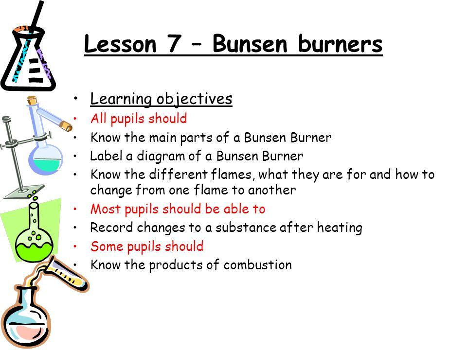 Lesson 7 Bunsen Burners Ppt Download