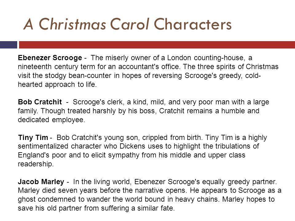 a christmas carol characters