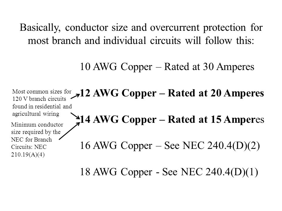 Ag mechanics for beginning teachers ppt video online download 10 awg copper rated at 30 amperes greentooth Choice Image
