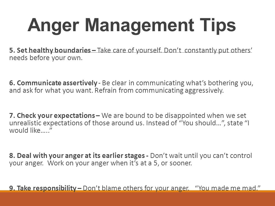 anger managment tips