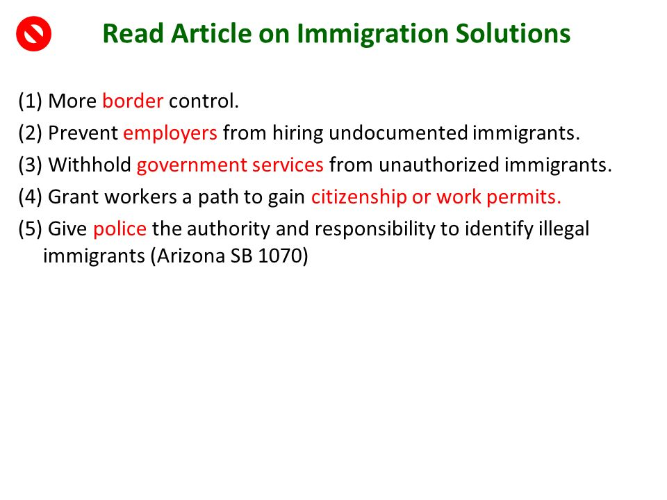 solutions to stop illegal immigration