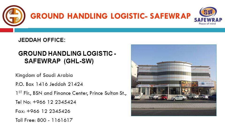 GROUND HANDLING LOGISTIC - SAFEWRAP - ppt download