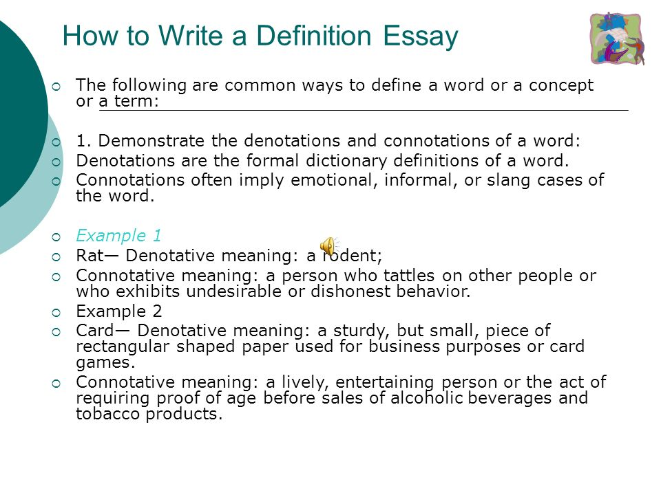 definition of the word essay