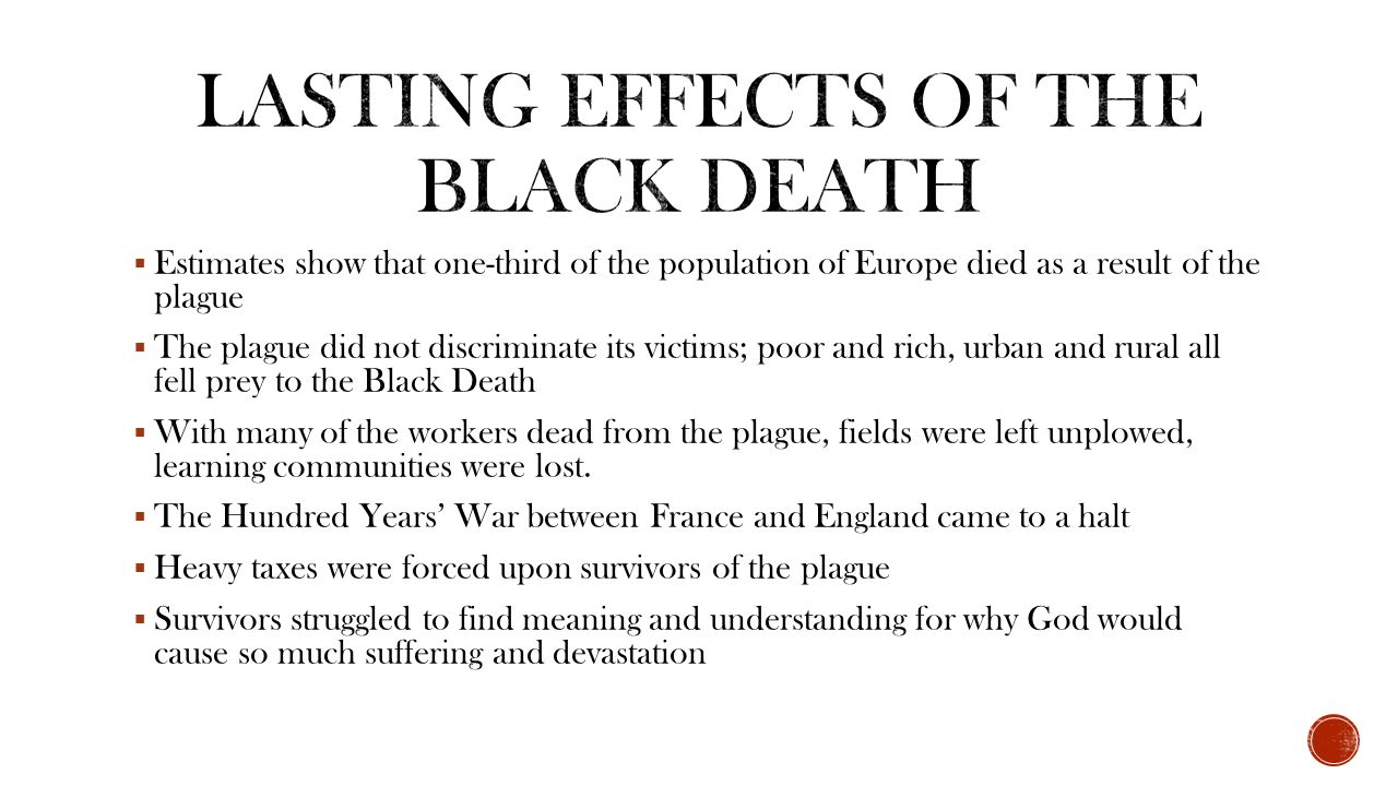 results of the black death