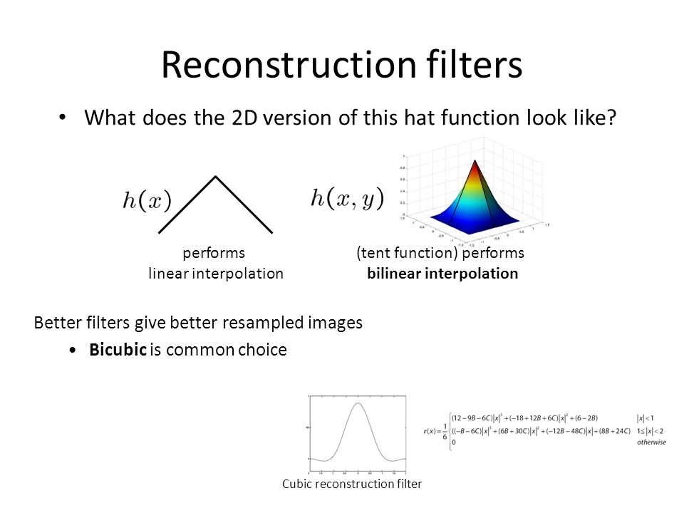 Lecture 5: Image Interpolation and Features - ppt video