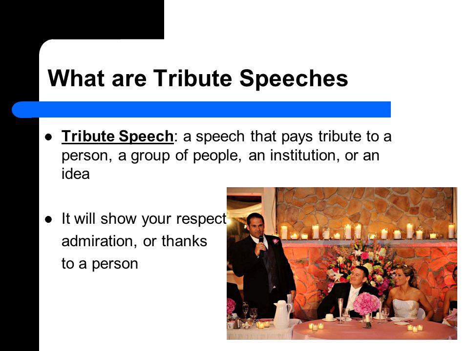 admiration speech