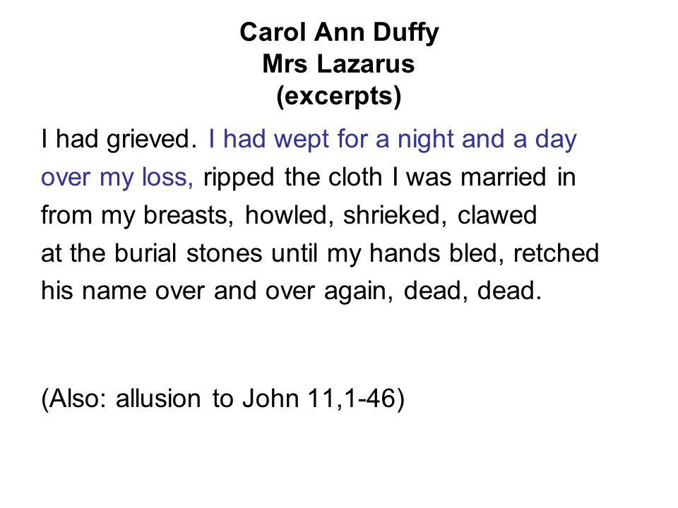mrs lazarus poem