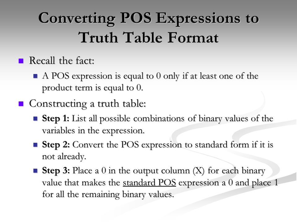 Sum Of Products Sop Ppt Download