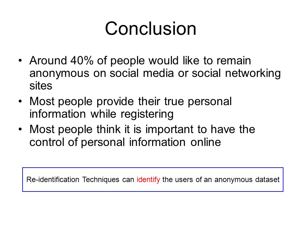 conclusion of social networking