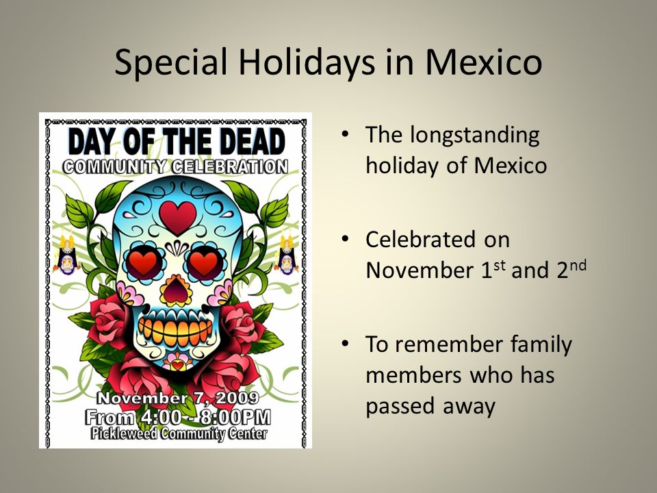 Special Holidays In Mexico