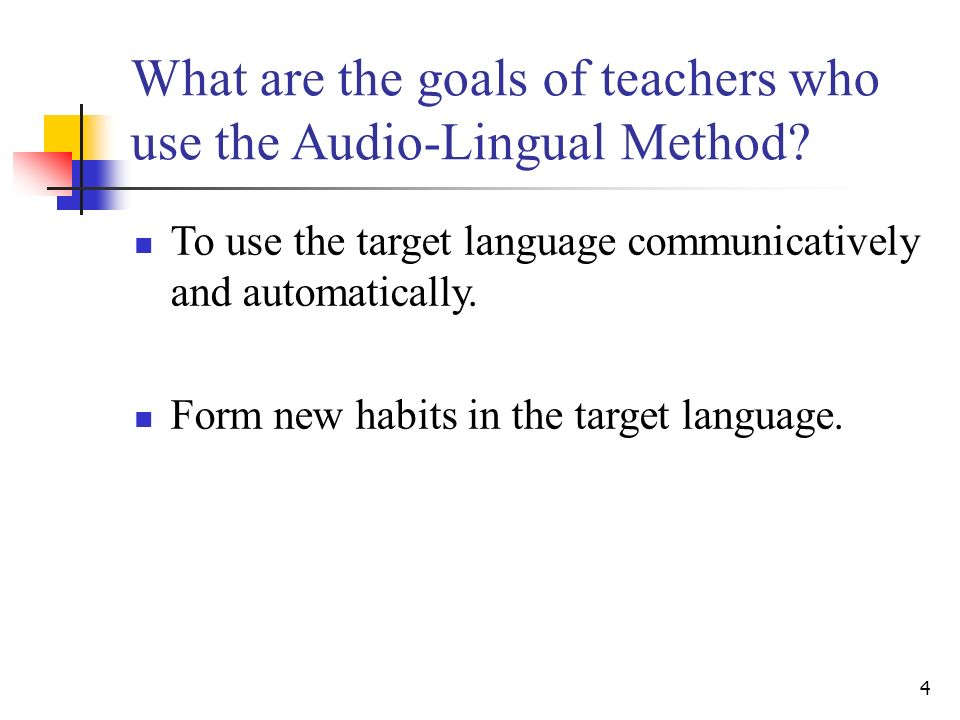 The Audio Lingual Method Ppt Video Online Download